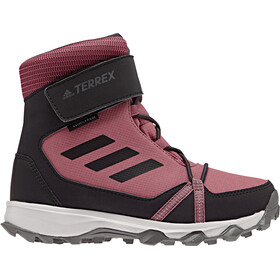 adidas TERREX Snow High Shoes Kinder trace maroon/carbon/real magenta
